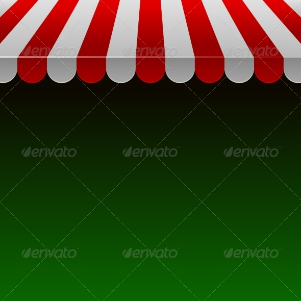 GraphicRiver Red and White Shop Awning with Space for Text 7459917