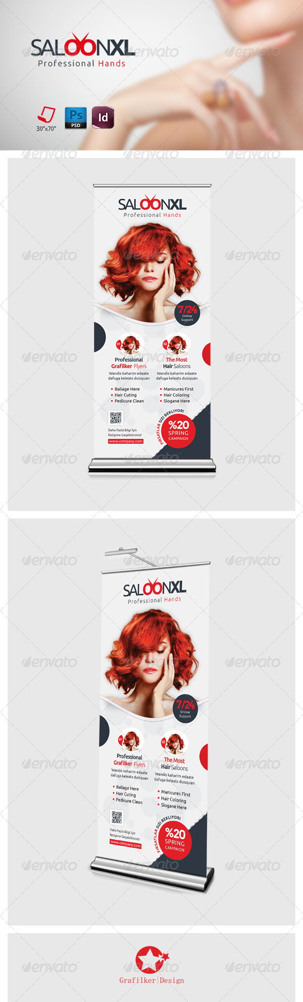GraphicRiver Beauty Saloon Roll-Up Templates 7456567