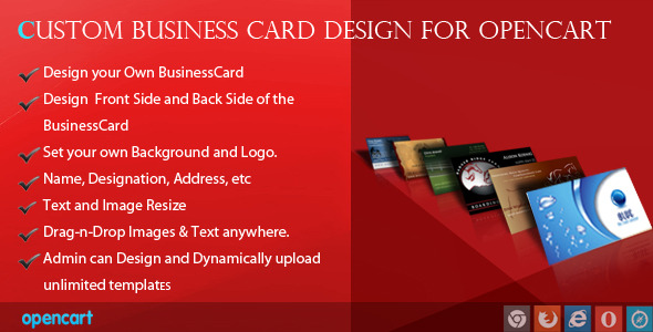 CodeCanyon Custom Business Card Design for OpenCart 7459945