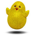 Happy Jumping Chick Cartoon 3D - PhotoDune Item for Sale