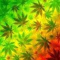 Marijuana Leaves Rasta Pattern - PhotoDune Item for Sale