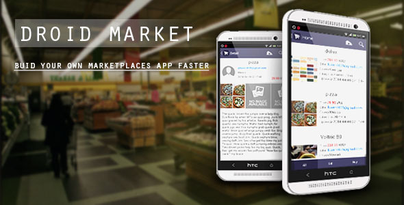 DroidMarket - marketplaces app with CMS - CodeCanyon Item for Sale