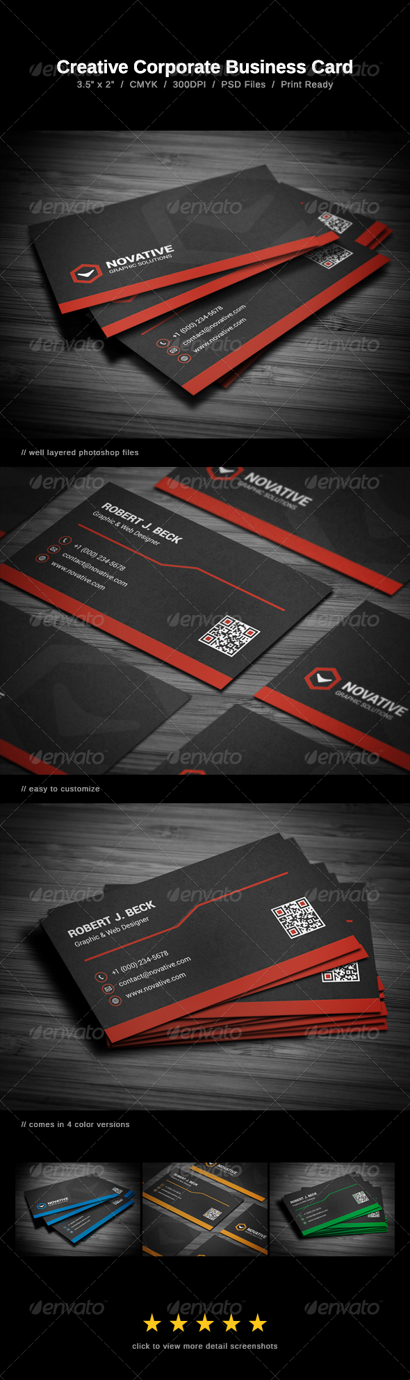 GraphicRiver Creative Corporate Business Card 7460388