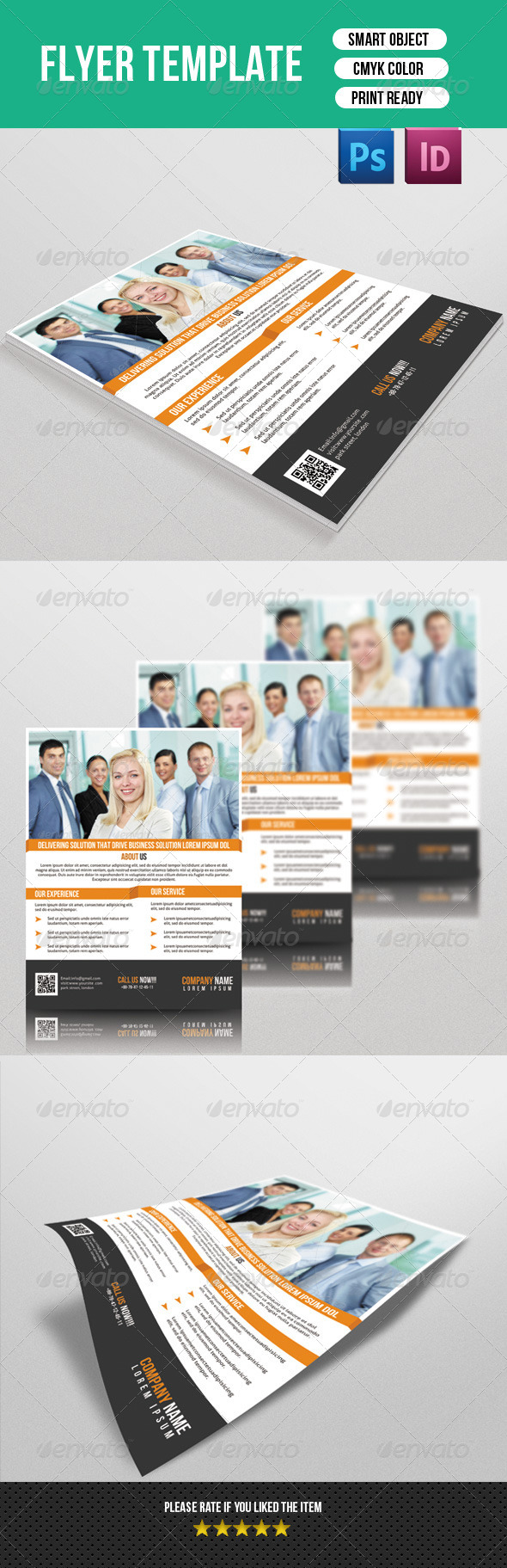 GraphicRiver Corporate Flyer Template 7460435