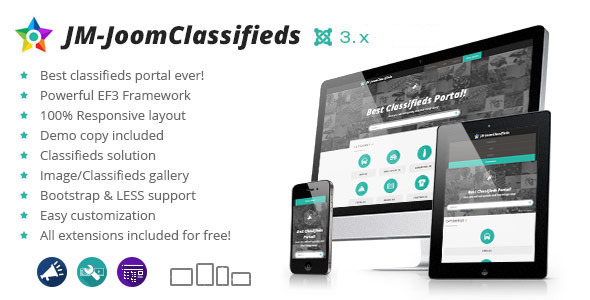 JoomClassifieds - Joomla classifieds portal - Business Corporate