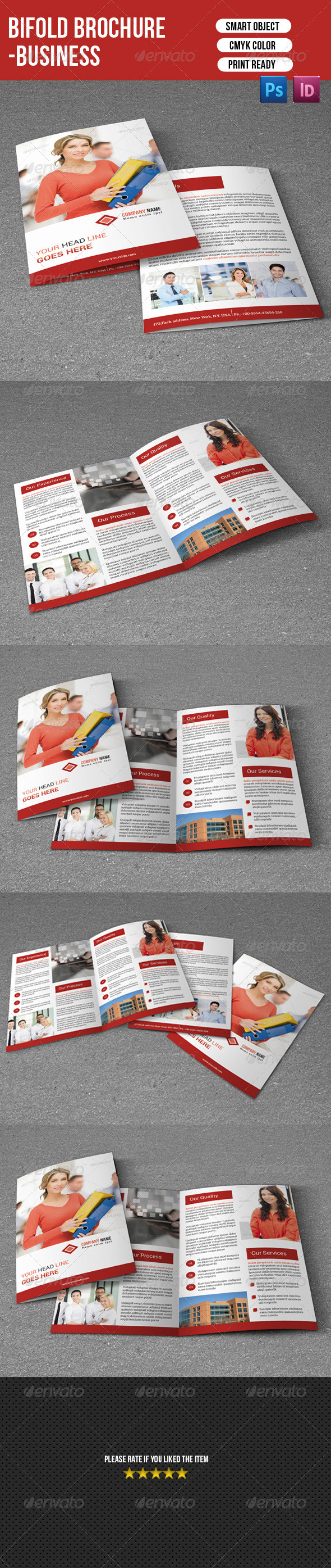 GraphicRiver Bifold Brochure-Business 7460496