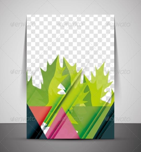GraphicRiver Green Nature Concept Print Template 7460550