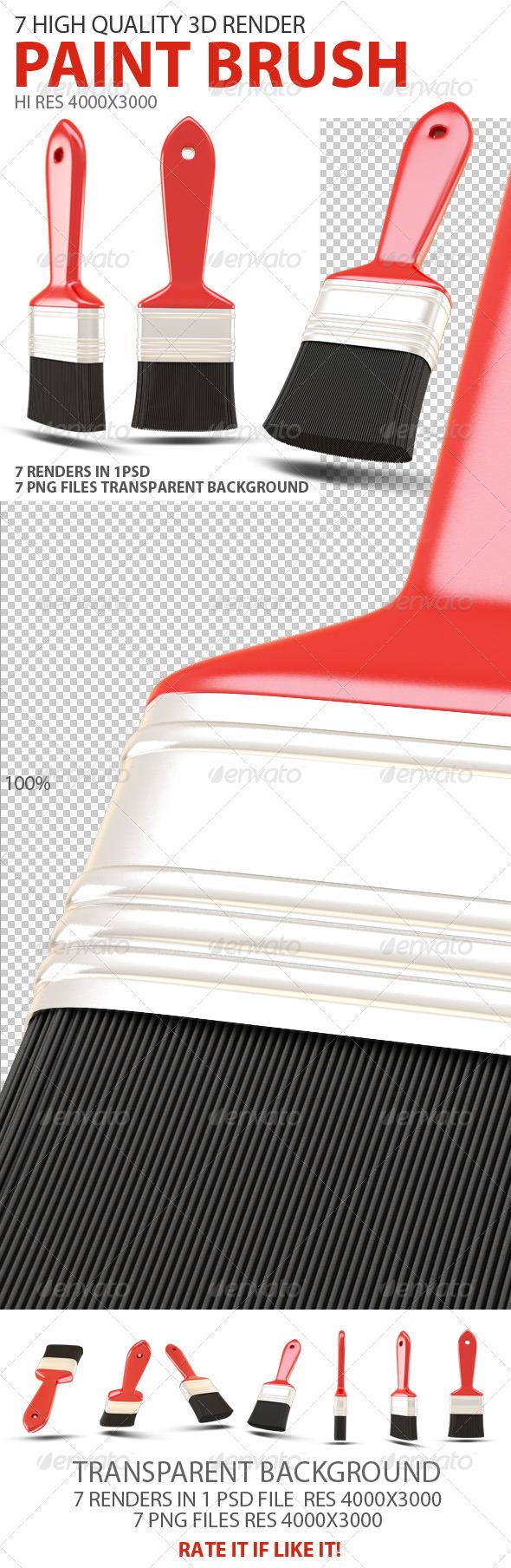 GraphicRiver Paint Brush 3D 7460694