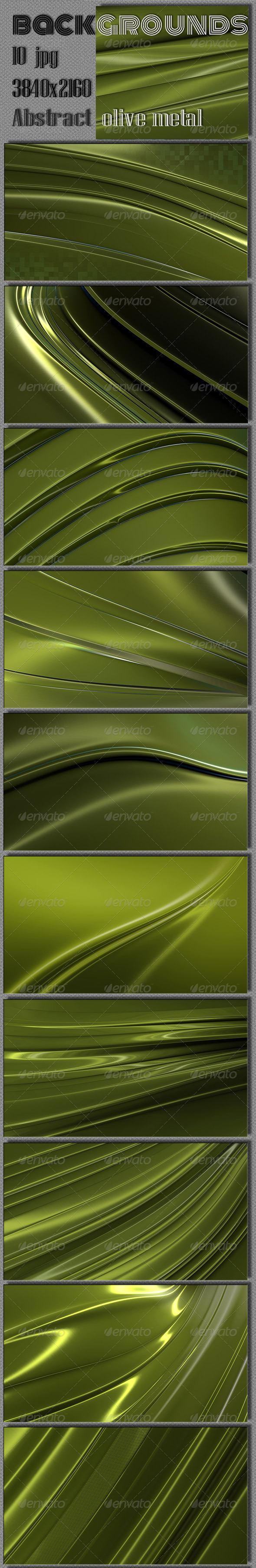 GraphicRiver Metal Olive 4K Backgrounds 7460738
