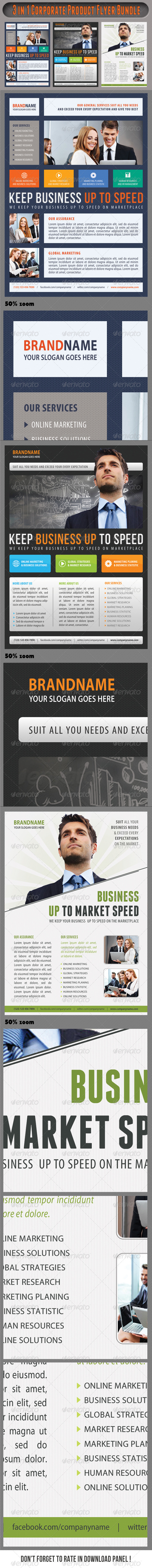 GraphicRiver 3 in 1 Corporate Flyers Bundle 12 7460742