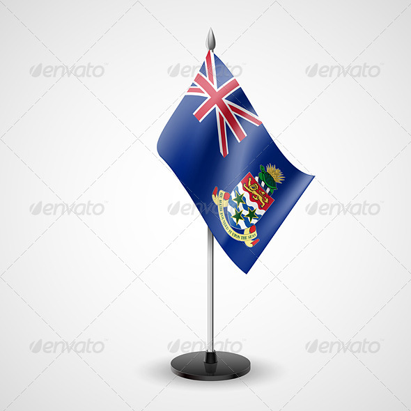 Table Flag of Cayman Islands