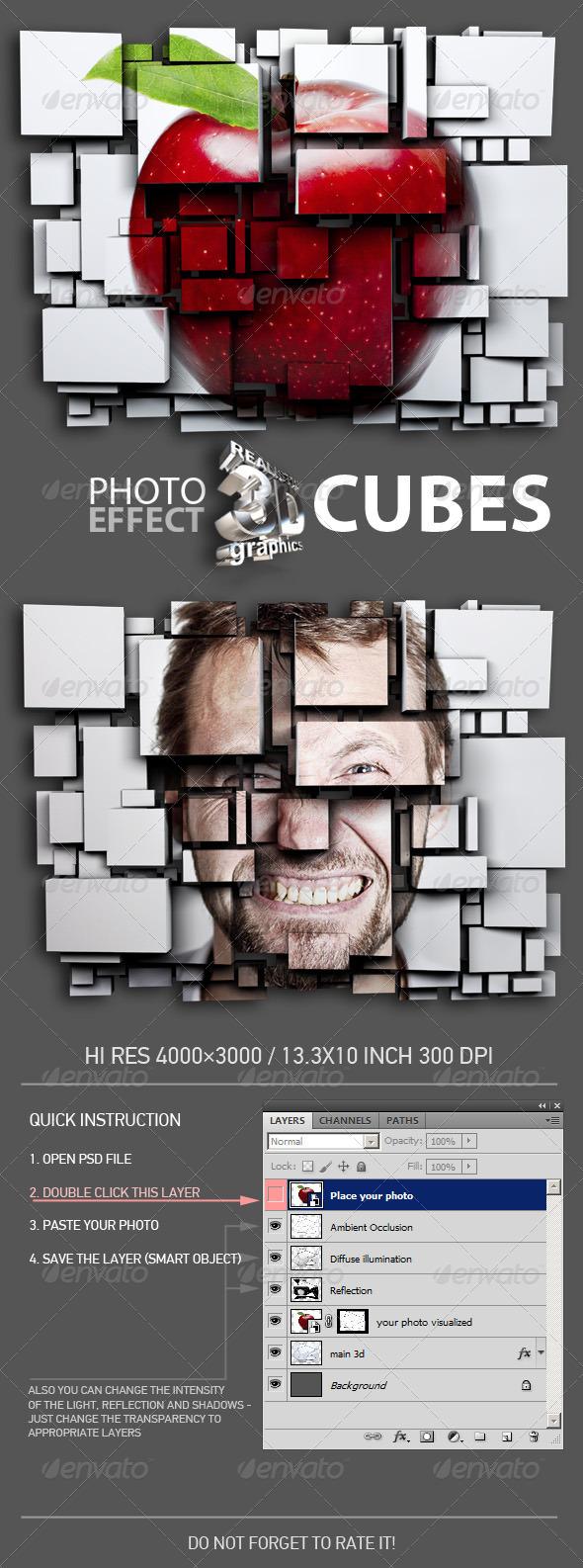 GraphicRiver 3D Cubes Photo Effect 7460824