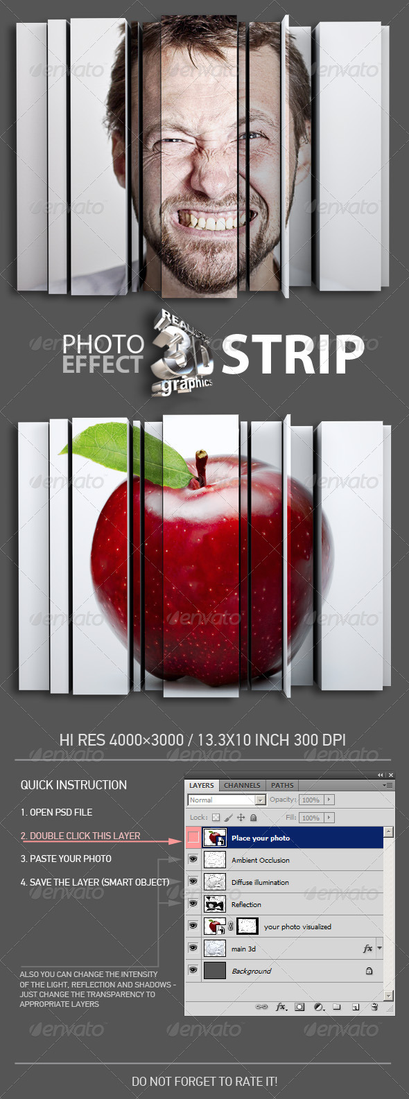 GraphicRiver 3D Strip Photo Effect 7460911
