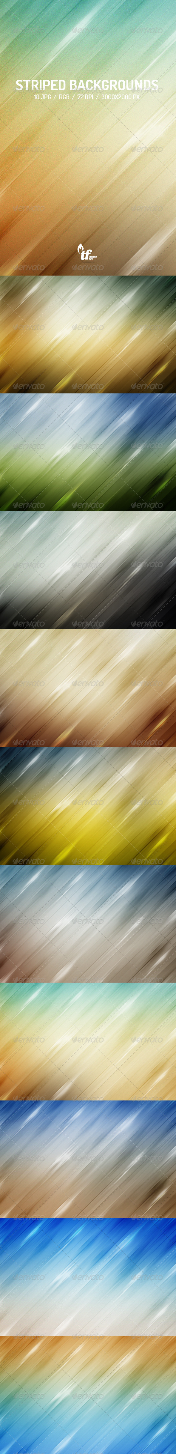 GraphicRiver Bright Striped Backgrounds 7461040