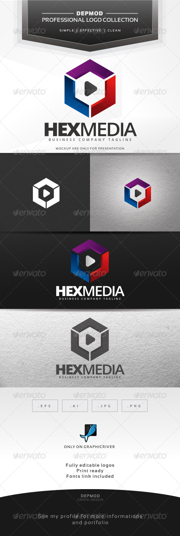 GraphicRiver Hex Media Logo 7461244