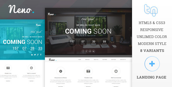 ThemeForest Neno Premium Coming Soon Template 7401950
