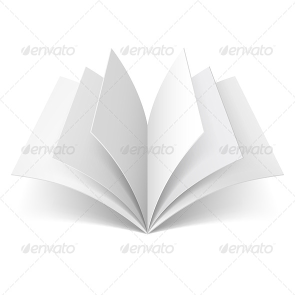 GraphicRiver Open Blank Book 7461802