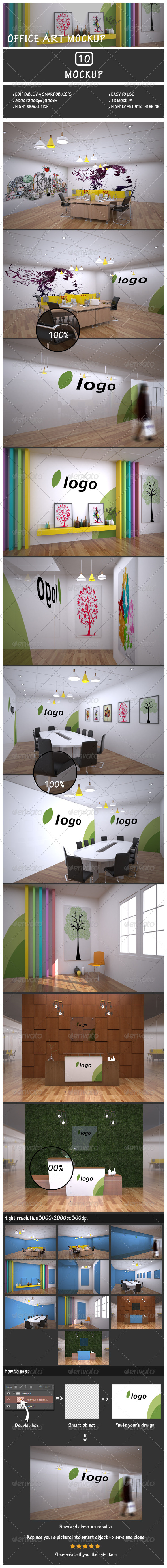 GraphicRiver Office Art Mockup 7450252