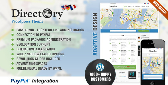 Directory Portal WordPress Theme - Directory & Listings Corporate
