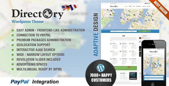 Directory Portal WordPress Theme - Directory & Listings Corporate