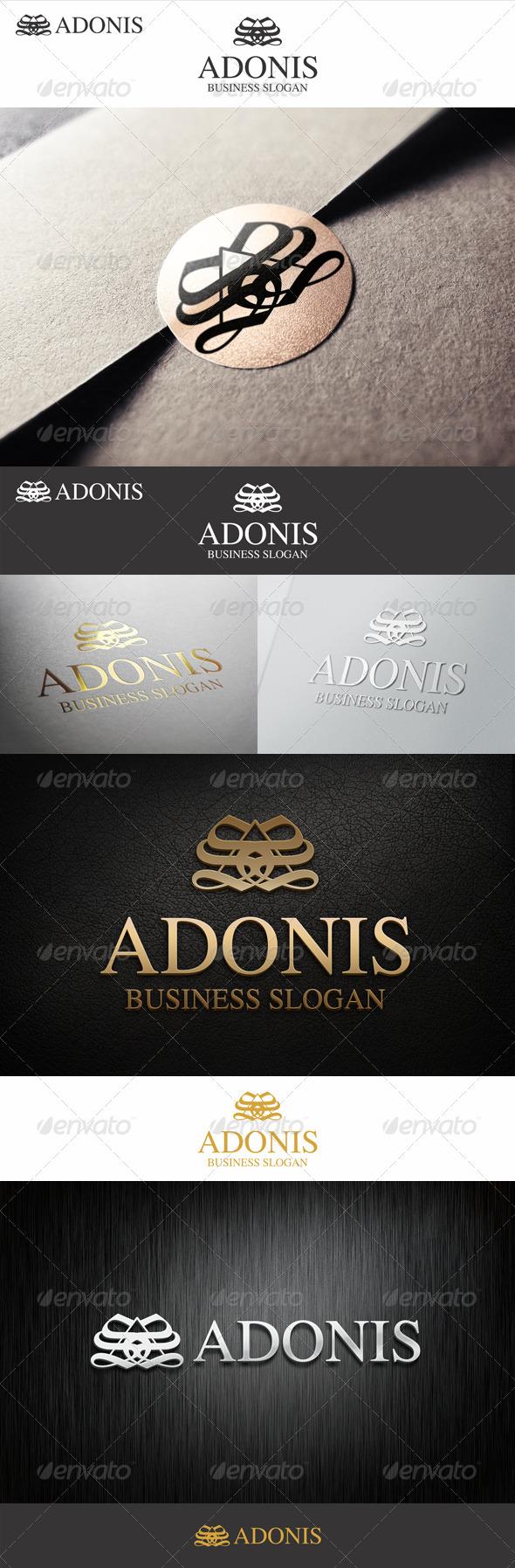 GraphicRiver Typography Monogram Logo Adonis 7462133