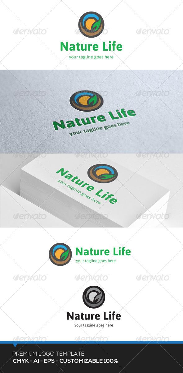 GraphicRiver Nature Life Logo 7462393