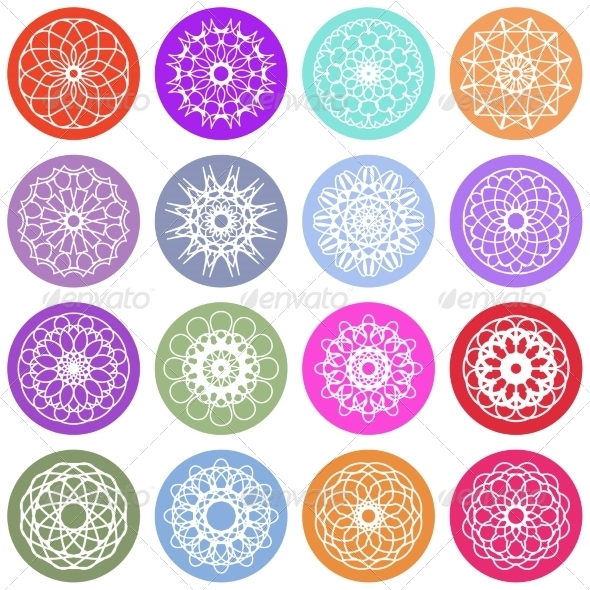 GraphicRiver Round Ornament Set 7462409