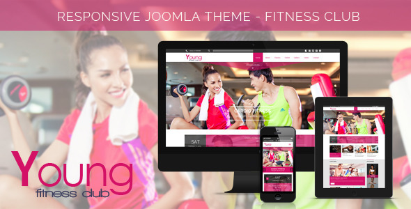 ThemeForest Young Fitness Spa & Fitness Joomla Template 7462515
