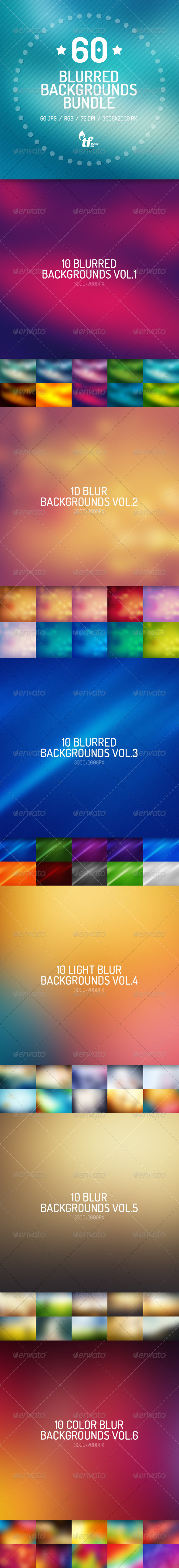 GraphicRiver 60 Blurred Backgrounds Bundle 7462582