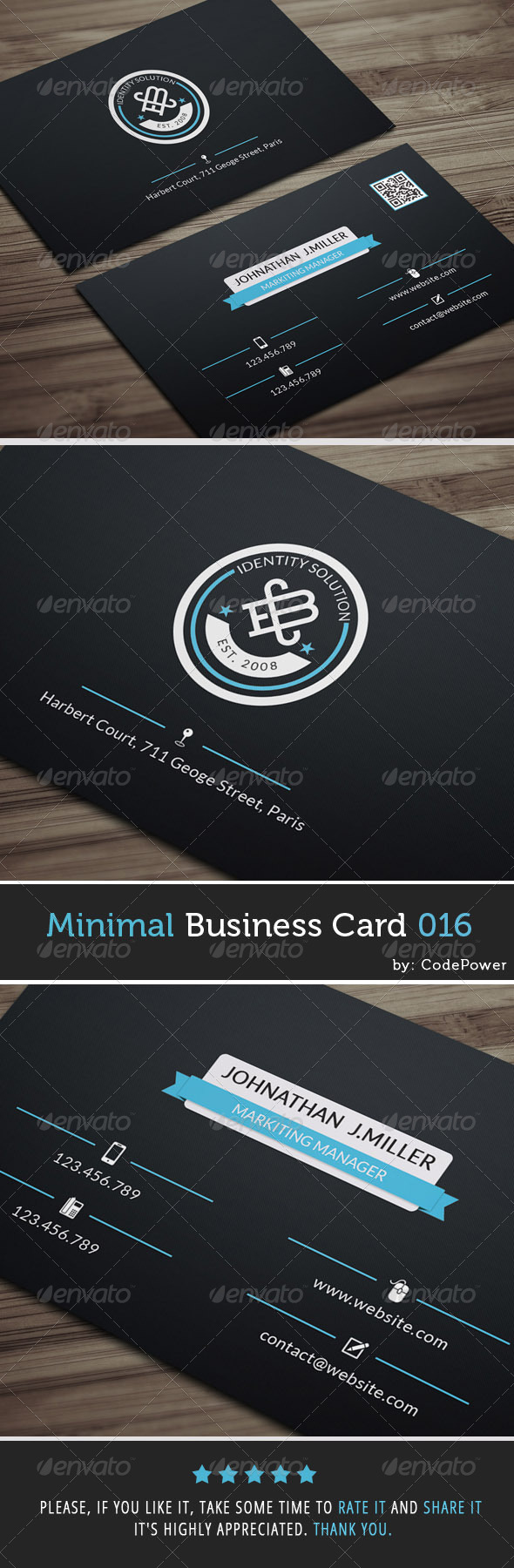 GraphicRiver Minimal Business Card 016 7462681