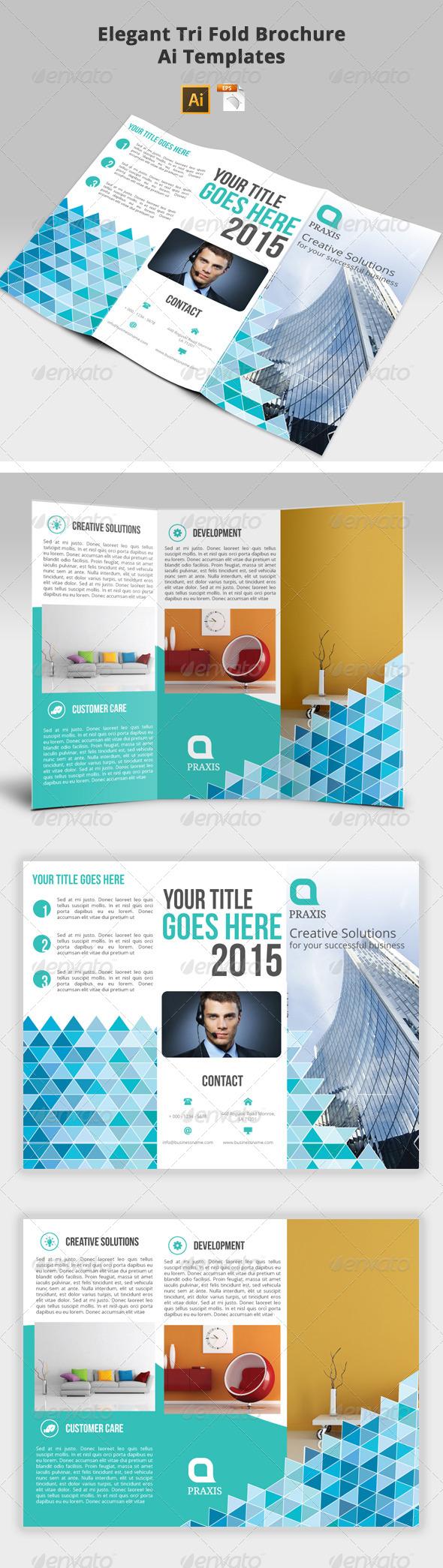 GraphicRiver Elegant Tri-Fold Brochure Ai Templates 7458871