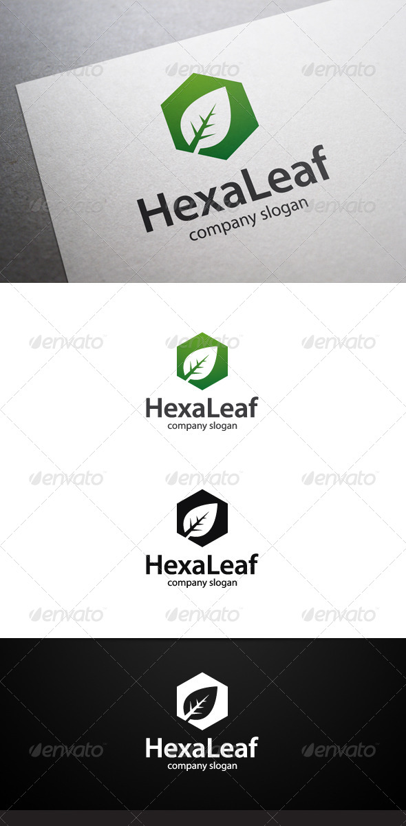 GraphicRiver Hexa Leaf Logo 7463581