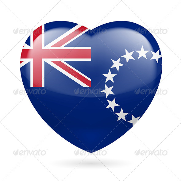 GraphicRiver Heart Icon of Cook Islands 7463665