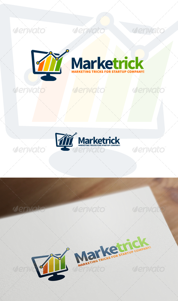 Marketrick - Marketing, Business & Financial Logo - Objects Logo Templates
