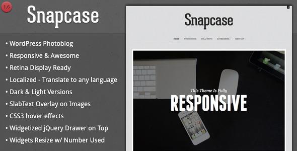 Snapcase - Responsive WordPress Photoblog Theme - Photography Creative