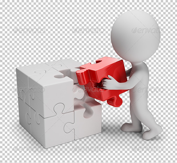 GraphicRiver 3D Small People Main Puzzle 7463940
