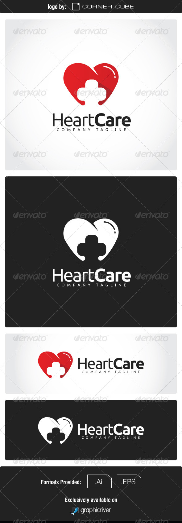 GraphicRiver Heart Care Logo 7463958