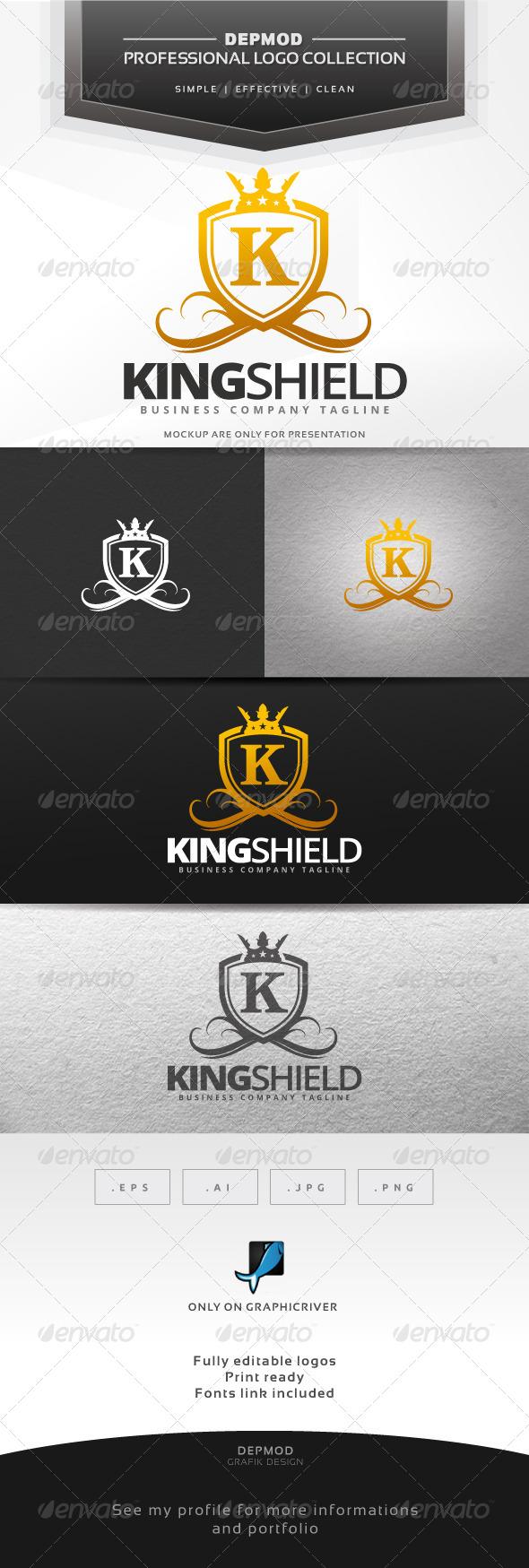 GraphicRiver King Shield Logo 7464090