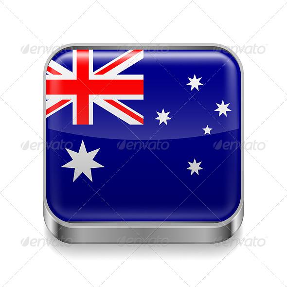 GraphicRiver MetalIcon of Australia 7464091