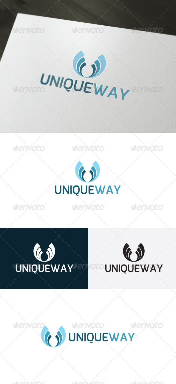 GraphicRiver Unique Way Logo 7464438