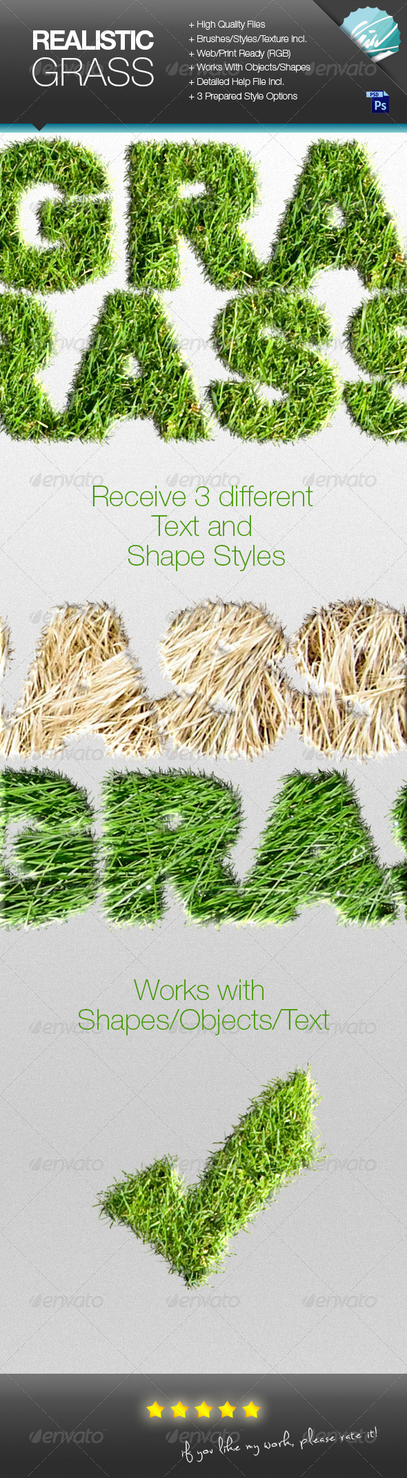 GraphicRiver Realistic Grass Effect Generator 7464757