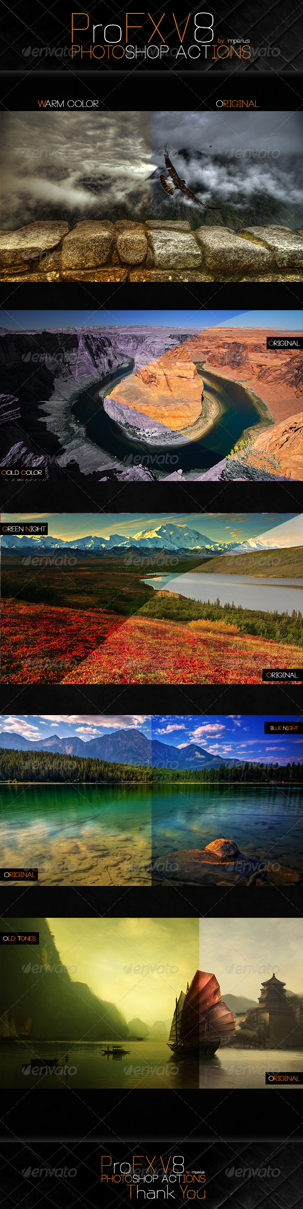 ProFX V8 Actions - Actions Photoshop