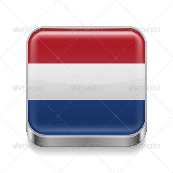 GraphicRiver Metal Icon of Netherlands 7465153