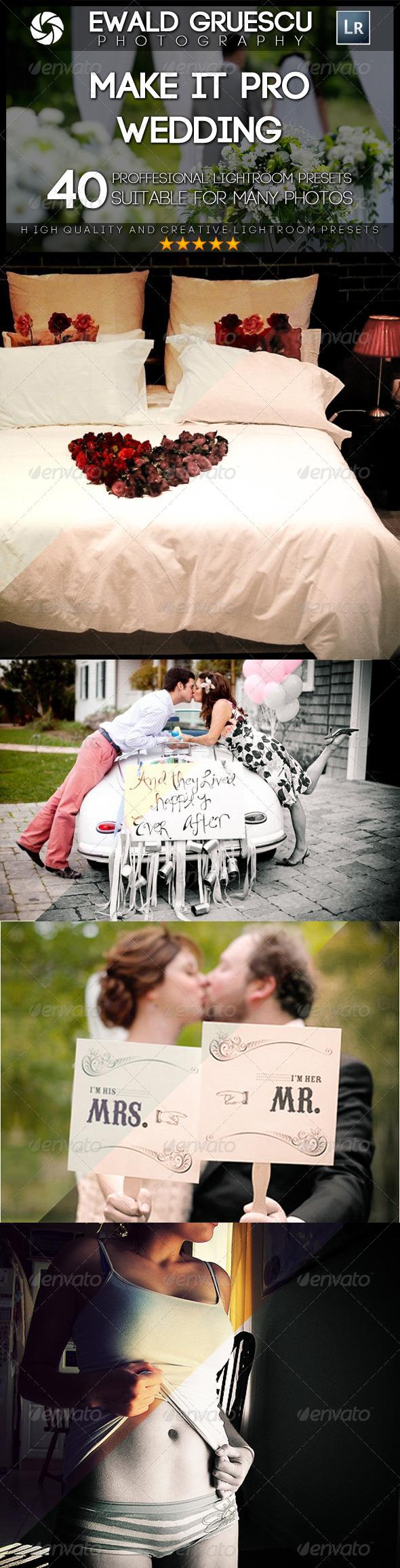 GraphicRiver Make it PRO Wedding Part II Lightroom Presets 7465196