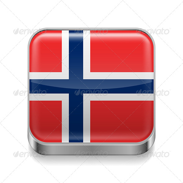 GraphicRiver Metal Icon of Norway 7465223