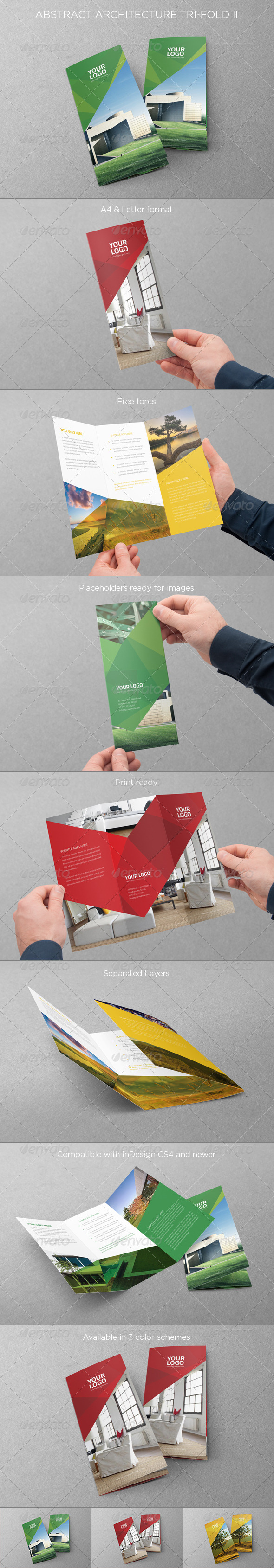 GraphicRiver Abstract Architecture Trifold II 7465395