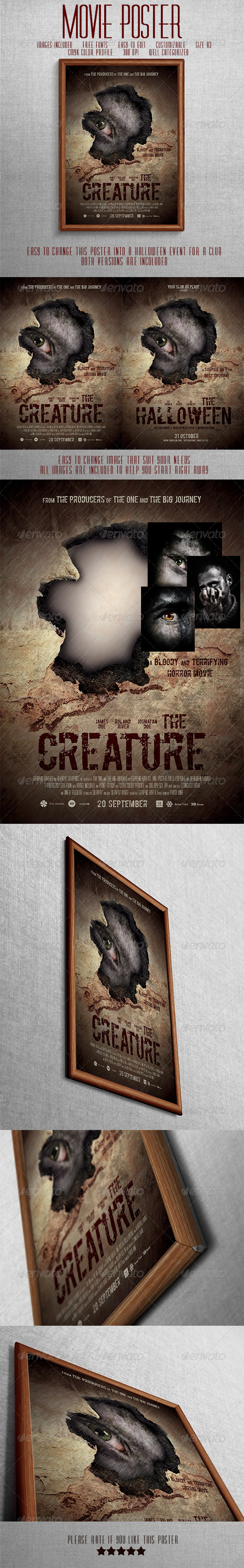 GraphicRiver Horror Movie Poster Or Halloween Poster 7465881