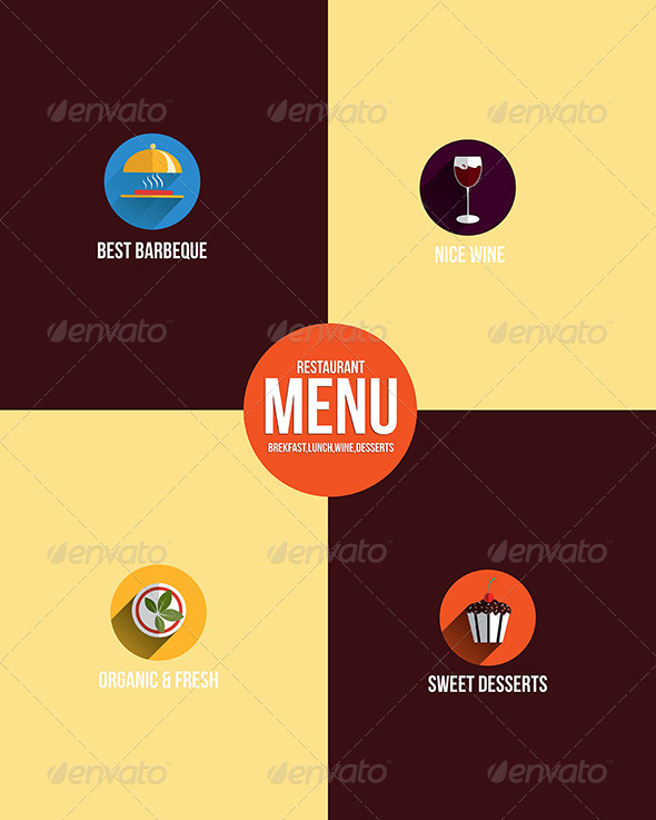 GraphicRiver Restaurant Menu Flat Design 7465884