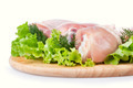 Raw Chicken Legs with Green Salad - PhotoDune Item for Sale