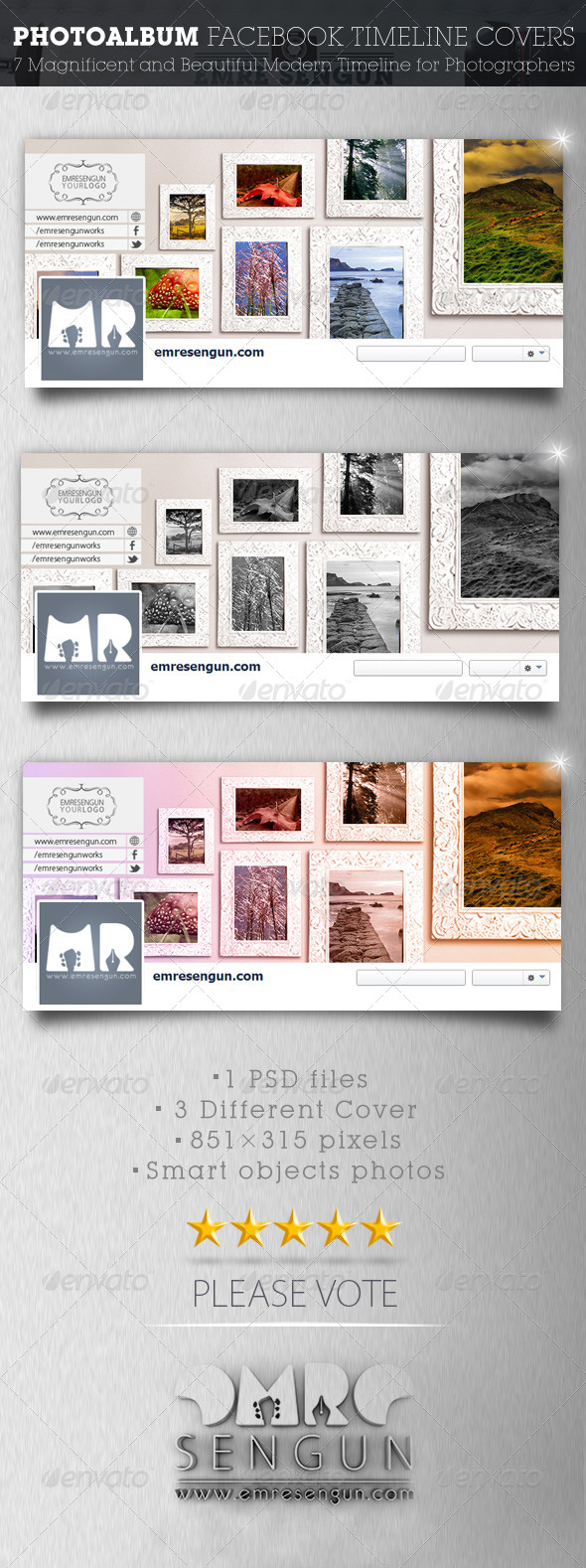 GraphicRiver Photoalbum Facebook Timeline Covers 7466053